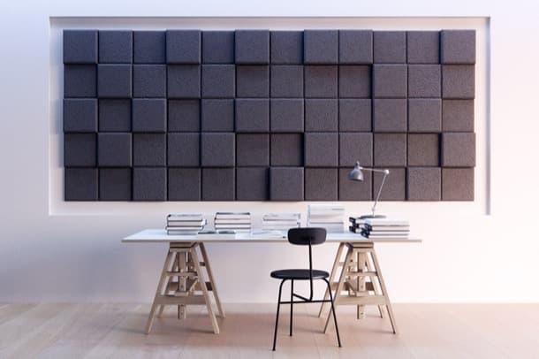 panel acústico de lana de madera BAUX 3D Pixel