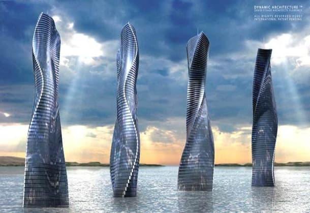rascacielos dynamic tower torre-giratoria