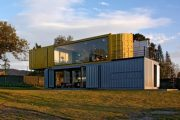 Casa Huiini: con cuatro contenedores
