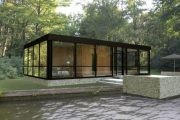 Versión prefabricada de la Glass House de Philip Johnson