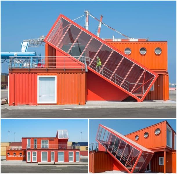 Oficinas con contenedores marítimos puerto ashdod