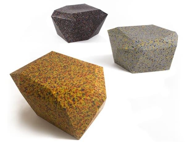 100% taburetes de plástico reciclado Rodrigo Alonso