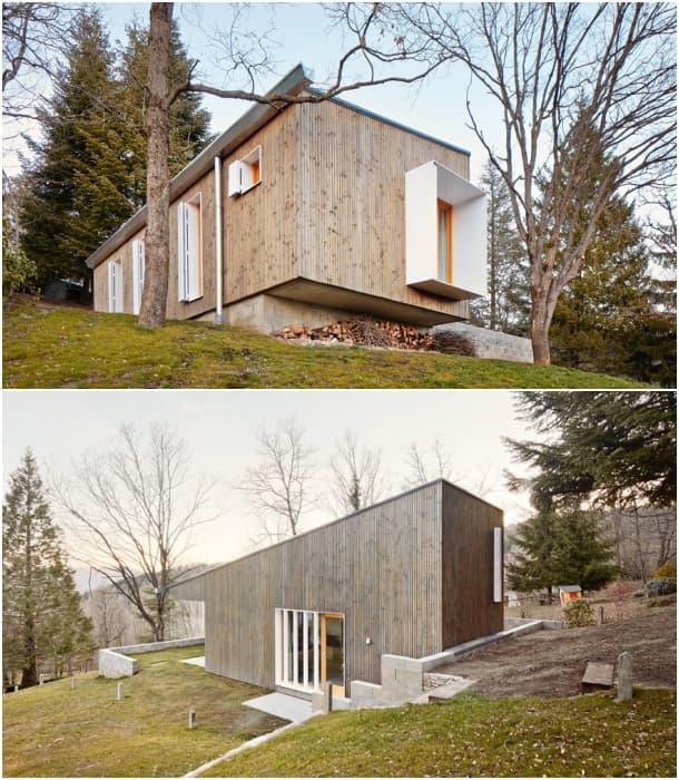 Cottage fachada casa de madera