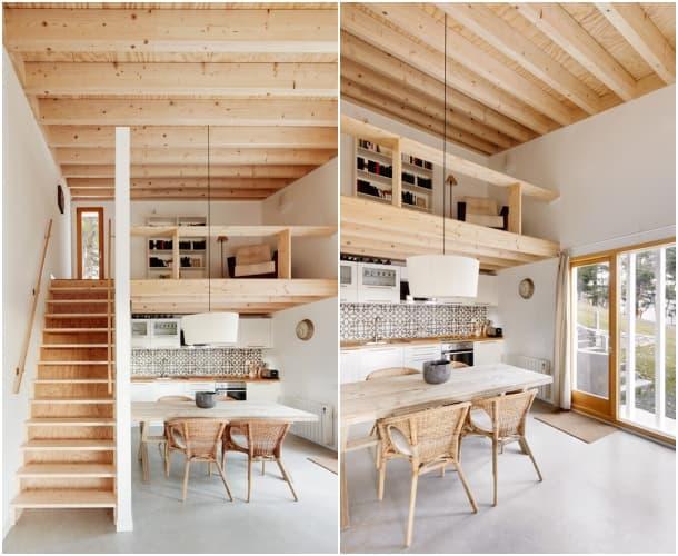 Cottage sala con altillo Mogas Arquitectes