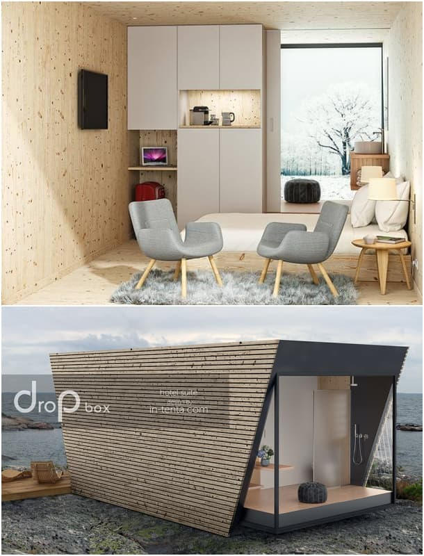 Drop Box habitación para glamping In-Tenta