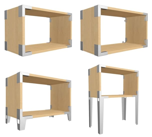 cajas reciclables Soapbox madera acero