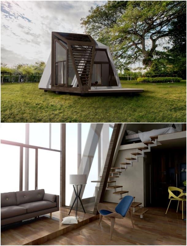 casa compacta prefabricada - renders - Ruzanna Andressa Oganesya