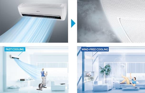 comparación enfriamiento rápido vs wind-free