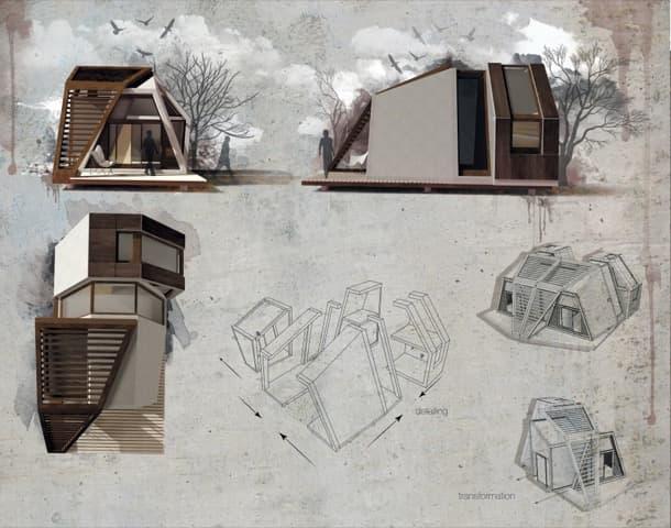 dibujos casa pequena prefabricada