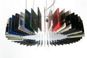 Reciclando disquetes para hacer una lámpara colgante