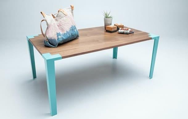 mesa Soapbox madera acero