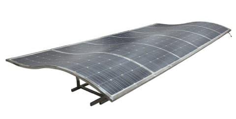 panel eArche en cubierta ondulada
