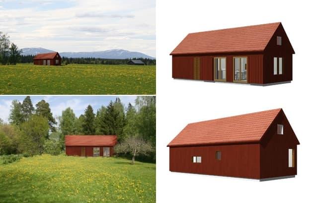 render cabaña prefabricada Dalåsen Arvesund
