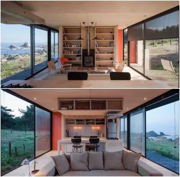 sala vivienda modular transportable Pichicuy Chile