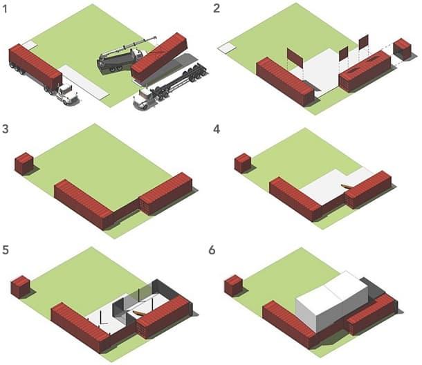 uso contenedores en casa hibrida Jose Schreiber