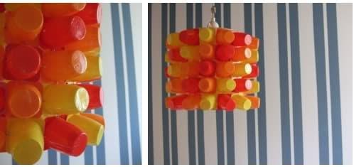 Lámparas de envases reciclados