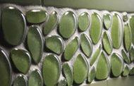 Vidrio reciclado con la forma de cantos rodados