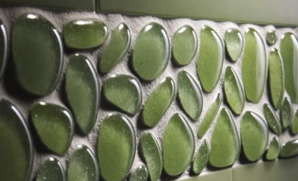 Agates mosaico de vidrio reciclado