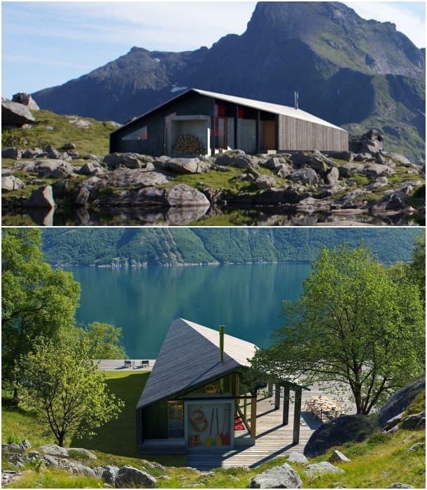 Gapahuk cabaña prefabricada ecológica Snohetta