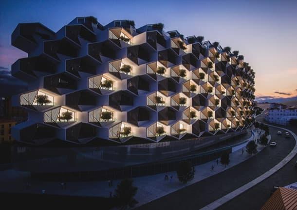 bloque Urban Rural de modulos hexagonales