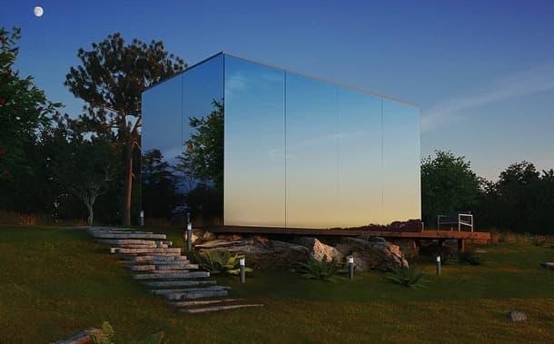 habitación prefabricada ÖÖD - vidrio espejado