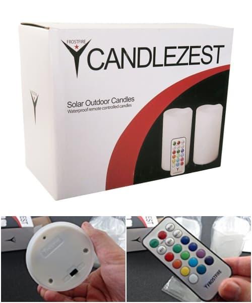 luces jardín con control remoto Candlezest
