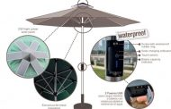 Sombrilla con cargador solar, de B-Part