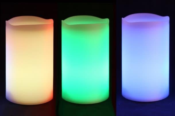 velas solares Frostfire Candlezest colores