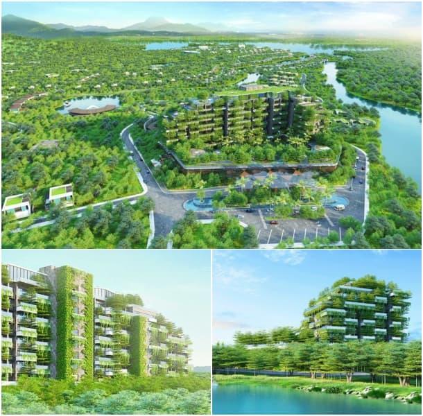 Forest in the Sky bloque pisos certificado verde EDGE Vietnam