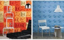 PaperForms: azulejos de papel reciclado, para decorar en relieve