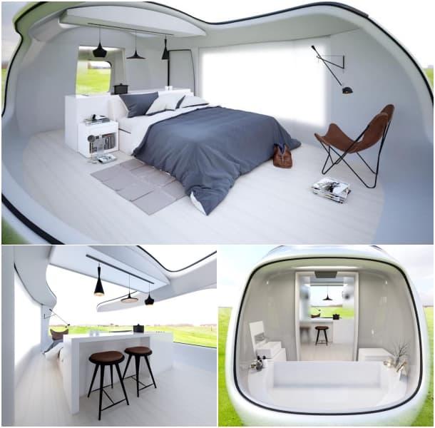 Pod para acampada - interiores