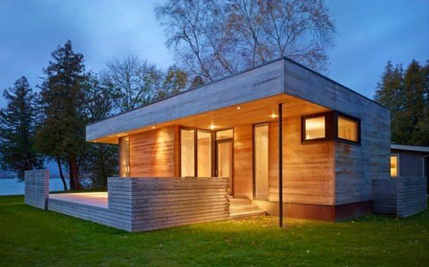 Pointe: cabaña prefabricada conectada a un bungalow