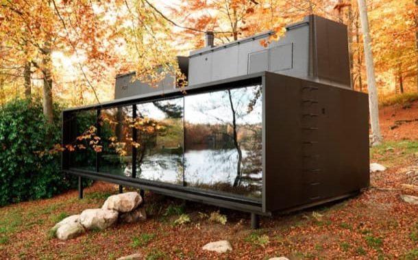 VIPP también creó una cabaña prefabricada