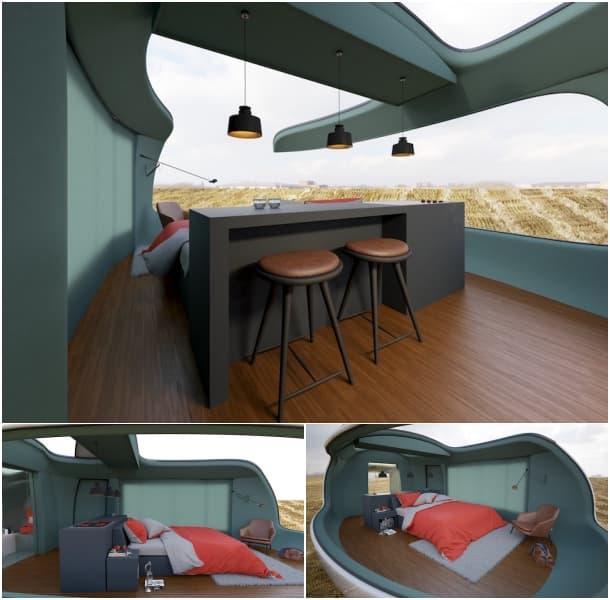 interior habitacion para acampada Bitlens Studio