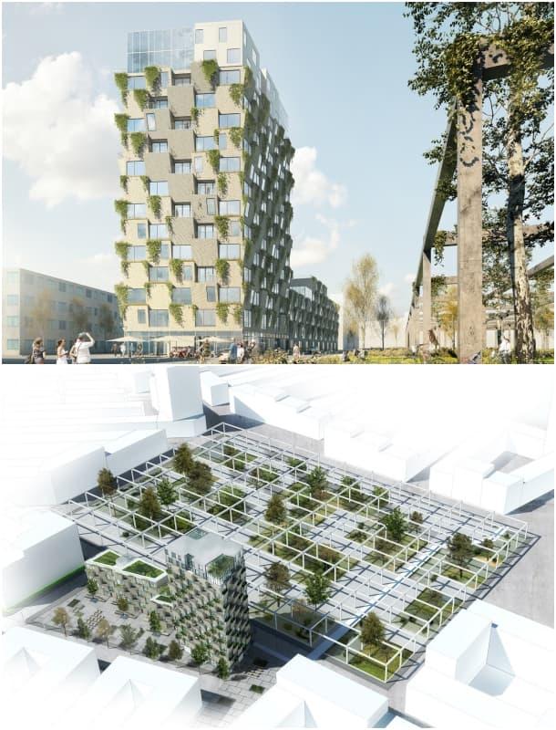 viviendas con jardines en fachada Copenhague Studio LOKAL