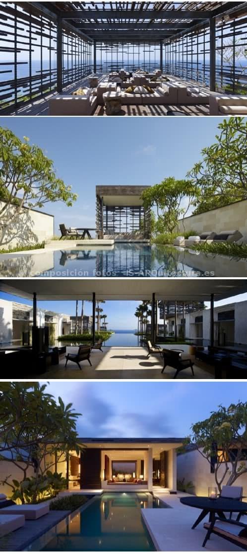 complejo hotelero sostenible en Bali - jardines