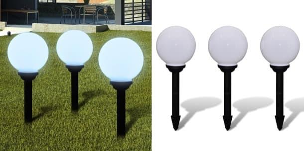 lamparas solares de bola