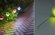 Lámparas solares con forma de bola