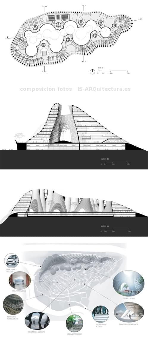 planos edificio montaña LACE Hill