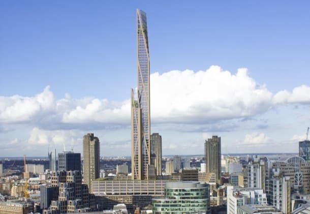 rascacielos de madera en Londres PLP-Architecture