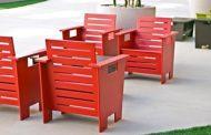 Muebles hechos con envases reciclados
